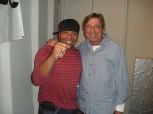 Joe Namath and Marlowe Taylor with NFL championship ring on my hand!